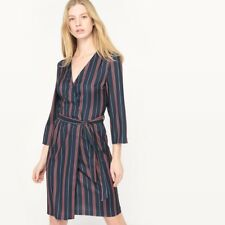 La Redoute Collections Womens Striped Wrapover Dress