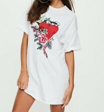 Missguided Embroidered Heart T-shirt Dress (M41/5)