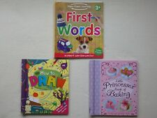 Learn Words, How to Draw or Baking Book (Choice of 3)