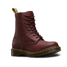 Dr Martens Pascal 8 Eye Virginia Cherry Red , Bottes et bottines Dr martens