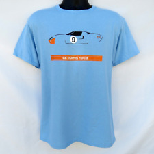 FORD GT40 1968 Le Mans 24 Hours race winning T-Shirt GULF RACING COLORS MARK 1