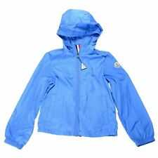 "Moncler Kids's ""FRONSAC"" Blue Hooded Full Zip Windbreaker Jacket Moncler  10 12"