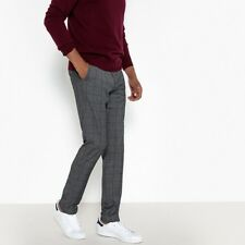 La Redoute Collections Mens Slim Fit Checked Trousers