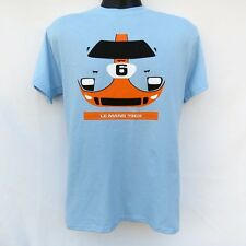 1969 Le Mans 24 Hours race winning Ford GT40 T-Shirt GULF RACING COLORS