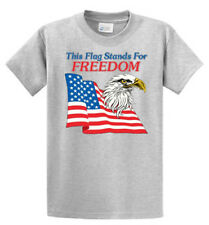 This Flag Stands For Freedom Mens Printed T Shirt Reg to Big and Tall cotton