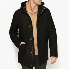 La Redoute Collections Man Zipup Hooded Wool Blend Coat