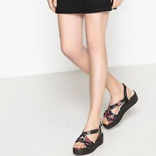 Mademoiselle R Womens Bow Detail Wedge Sandals