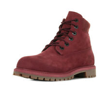 "Chaussures Boots Timberland unisexe 6 In Premium WP ""Pomegranate"" taille Rouge"