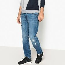 La Redoute Collections Mens Distressed Straight Leg Jeans