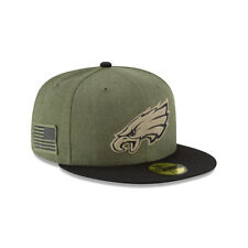 New Era NFL PHILADELPHIA EAGLES Salute to Service 2018 Sideline 59FIFTY Game Cap