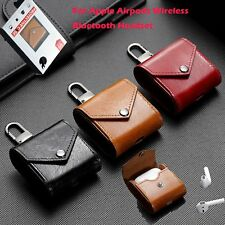 Portable Case Bag Leather Cover for Apple Airpods Wireless Bluetooth Headset New