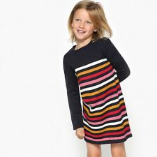 La Redoute Collections Girl Striped Jumpersweater Dress, 312 Years