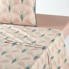 La Redoute Interieurs Unisex Pampelune Printed Cotton Percale Flat Sheet
