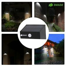 Smadz Sl12B Security Solar Motion Lights 8 Leds Auto On/Off Wireless For Outdoor