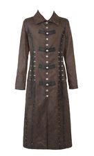 Long coat grey with lacing steampunk Punk Rave y-548 Punk Rave