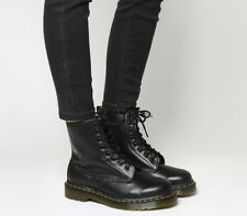 Womens Dr. Martens 8 Eyelet Lace Up Boots Black Boots