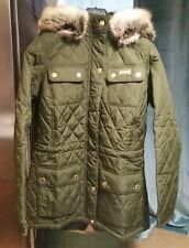 BNWT Barbour Enduro Quilted Parka Jacket Olive Green Exclusive to HOF rrp£199