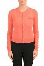 Dsquared2 Femmes 100% Laine Pêche Clair Pull Cardigan TAILLE S L