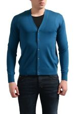 Prada Homme 100% Laine Bleu Pull Cardigan TAILLE XS S