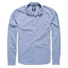 Superdry Modern Classic L/s Shirt Azul , Camisas Superdry , moda , Ropa hombre