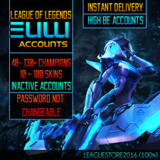 League of Legends Account EUW Unranked All Champs Lvl 30 Skins Lol Acc HIGH BE