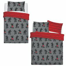 Disney Mickey Mouse Pops Of Red Duvet Set Bed Quilt Cover Pillowcase Bedding New