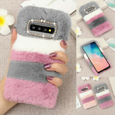 Soft Warm Plush Fluffy Phone Case Cover Comfy Faux Fur For Samsung iPhone Models