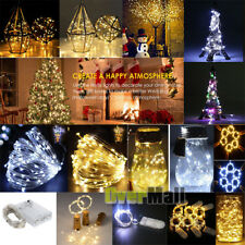 20/30/50/100 LEDs String Copper Wire Fairy Lights Battery Xmas Fairy Decor Lamp