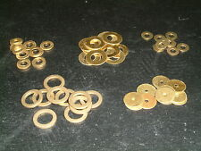 Brass Washers 2mm to 9.2mm I/D- Choose from 9 sizes, Various quantities