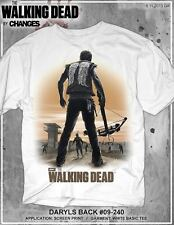 The Walking Dead DARYL'S Espalda Sunrise Daryl Dixon Arquero Rick AMC Camiseta