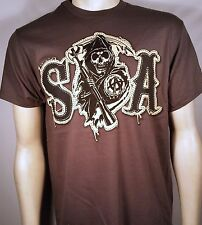 Sons Of Anarchy Soa Tackle Sarga Sintético Parche Samcro Segador Motero Camiseta