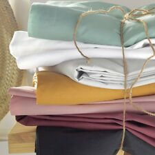 La Redoute Interieurs Unisex Organic Cotton Percale Fitted Sheet