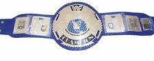 WWF Wrestling Championship Title Belt Blue Original Leather Thick Plated Replica