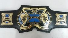 TNA X Division Championship Belt Original Leather Replica Plated Adult Size