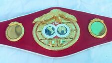 IBF Boxing Championship Leather Belt Adult Size Original Red Leather Replica