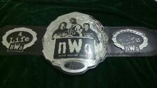 NWO Wrestling Championship Belt Original Leather and Plated Adult Size Replica