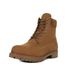 "Chaussures Boots Timberland homme 6"" Premium Boot taille Marron Cuir Lacets"