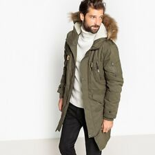 La Redoute Collections Man Midlength Parka With Fleece Lined Hood