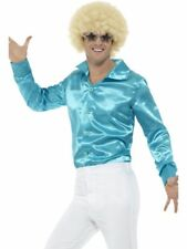 60's Shirt Blue Fancy Dress Costume