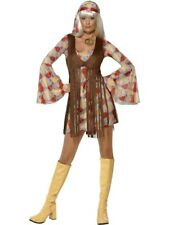 Adult Sexy 60s 70s Groovy Baby Hippy Ladies Fancy Dress Costume Party Outfit