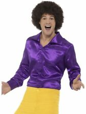 60'S Shirt Purple Men's Fancy Dress Costume