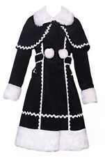 Coat hot gothic lolita black and white with bolero kawaii Pentagramme