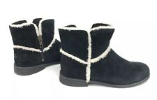 Ugg Australia Coletta Girls Black Suede Boot 1094579K Ankle Booties Youth