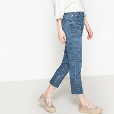 La Redoute Collections Womens Straight Leg Slogan Jeans, Length 26 Br