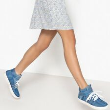 La Redoute Collections Womens Denim High Top Trainers
