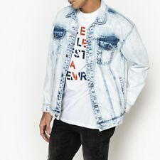La Redoute Collections Mens Oversized Denim Jacket With Print On Back