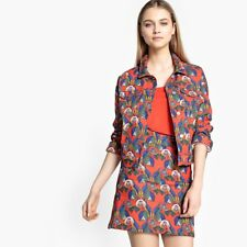 La Redoute Collections Womens Straight Denim Jacket With Parrot Print