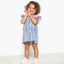 La Redoute Collections Girl Striped Full Dress, 1 Month3 Years