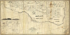 1860 Wall Map Chart Coasts of Brazil fr. River Para to Buenos-Ayres Survey Print