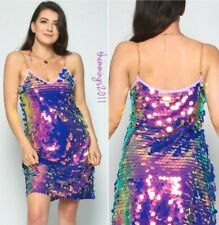 Holographic Unicorn Iridescent Glitter Sequin Party Dress BNWT